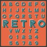 Retro- Schrifttyp Stockfoto