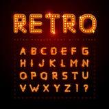 Retro- Schrifttyp Lizenzfreie Stockbilder