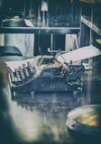 Retro schrijfmachine Stock Foto