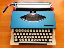 Retro schrijfmachine Royalty-vrije Stock Foto's
