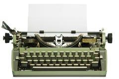 Retro schrijfmachine met leeg document Stock Afbeeldingen