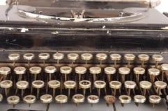 Retro Schrijfmachineclose-up Royalty-vrije Stock Afbeeldingen