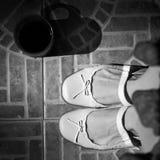 Retro- Schuhe der Weinlese Stockfoto