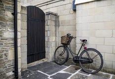 Retro- schwarzes bycicle Stockfotografie