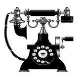 Retro- schwarzes Telefon Lizenzfreie Stockfotos