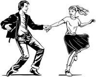 Retro- Schwingen-Tanzen lizenzfreie abbildung