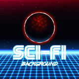 Retro sci fi background10 Illustrazione di Stock