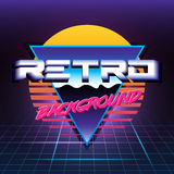 Retro sci fi background Royalty Free Stock Images