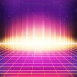 Retro science fictionbakgrund för 80-tal med färgrika effekter Royaltyfri Fotografi
