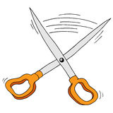 Retro Scissors Cutting Shears. An image of a cutting scissors shears Stock Photo