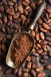 Retro scoop with cocoa powder Stock Photography