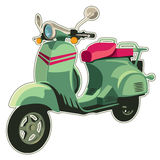 Retro scooter. Isolated on white vector illustration