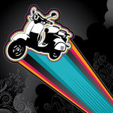 Retro scooter banner Stock Photos