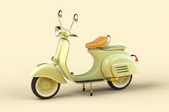 Retro scooter. 3d render of retro scooter royalty free illustration
