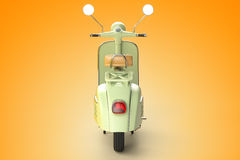 Retro scooter. 3d render of retro scooter stock illustration