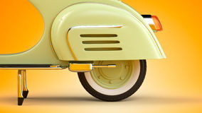 Retro scooter Royalty Free Stock Image