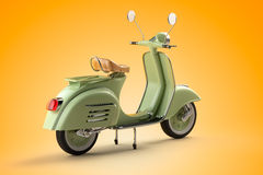 Retro scooter. 3d render of retro scooter vector illustration