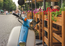 Retro scooter stock photos