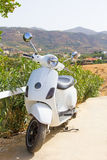 Retro scooter in mountains of Greece Stock Photography