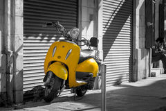 Retro scooter in the old town of Limassol. Cyprus Royalty Free Stock Image