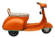 Retro scooter toy. Isolated on white. Clipping path included Royalty Free Stock Image