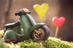 Retro scooter toy Stock Photos