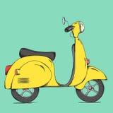 Retro scooter Stock Photo