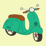 Retro scooter Stock Images