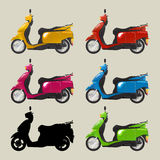Retro scooters Stock Photography