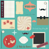 Retro scrapbooking Stock Photography