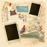 Retro Scrapbooking Set Stock Photos
