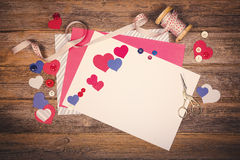 Retro scrapbooking themed image Stock Images
