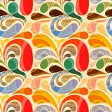 Retro seamless abstract floral. Pattern royalty free illustration