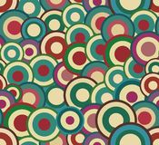 Retro seamless abstract texture with circles Royalty Free Stock Photo