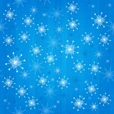 Retro Seamless Atomic Snowflakes Background Stock Images