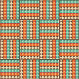 Retro seamless background with geometric shapes. Royalty Free Stock Images
