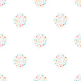 Retro seamless background with multicolor vivid rings Stock Photo