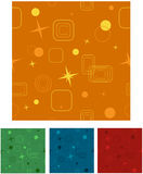 Retro Seamless Background - Vector Illustration. These are 4 different color versions of an abstract seamless background - vector illustration Stock Photo