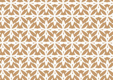 Retro Seamless Brown Stylized Flower Pattern Background Stock Photo