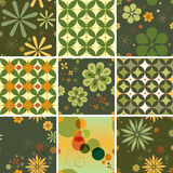 Retro seamless collection Royalty Free Stock Images
