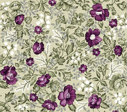 Retro seamless damask flower pattern Royalty Free Stock Image
