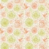 retro seamless för blom- modell Royaltyfria Foton