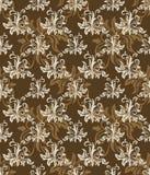 retro seamless för brun modell Royaltyfri Fotografi
