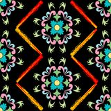 Retro seamless floral pattern Stock Photography