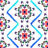 Retro seamless floral pattern 2 Stock Photo