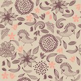 Retro seamless floral pattern Royalty Free Stock Photo