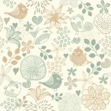 Retro seamless floral pattern Stock Photos