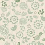 Retro seamless floral pattern Stock Images