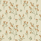 Retro seamless floral pattern Stock Image