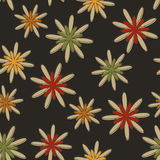Retro Seamless Flower Background Dark Stock Images